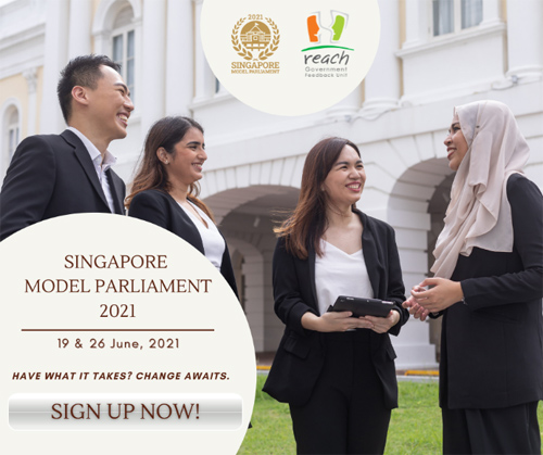 Register for Singapore Model Parliament 2021 today!