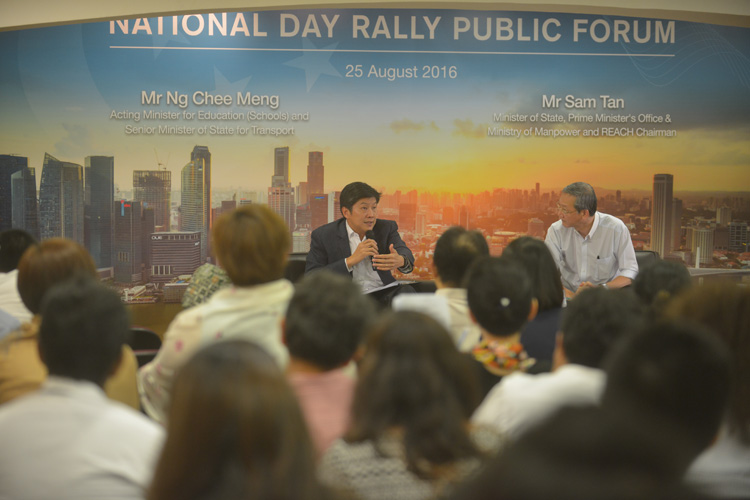 National Day Rally 2016 Public Forum