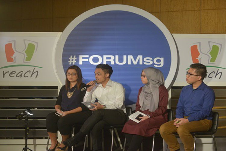 REACH-MediaCorp TV panel discussion on Suria(#ForumSG)
